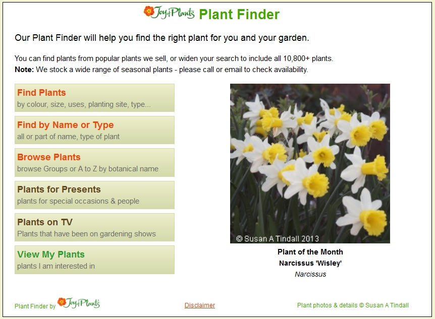 Plant Finder With Pictures What's in The Plant Finder